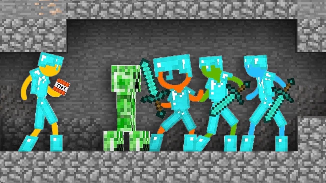 Minecraft VS Stickman Alan Becker Animation vs. Minecraft Shorts AVM Shorts (FAN MADE) Ep 18