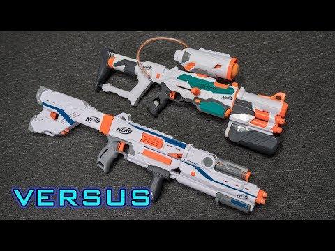 [VS] Nerf Tri-Strike vs. Nerf Mediator | Which is Better?!