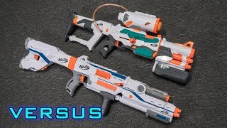 [VS] Nerf Tri-Strike vs. Nerf Mediator | Which is Better?!