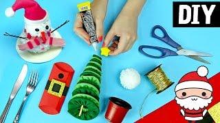 DIY Especial de Natal #3 🎄⛄🎅 Boneco de neve + Mini Arvore + Decoração fácil e barata