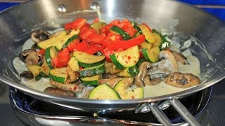 Wok Rezept/ Hähnchen mit Gemüse in Senfsoße / lecker und schnell