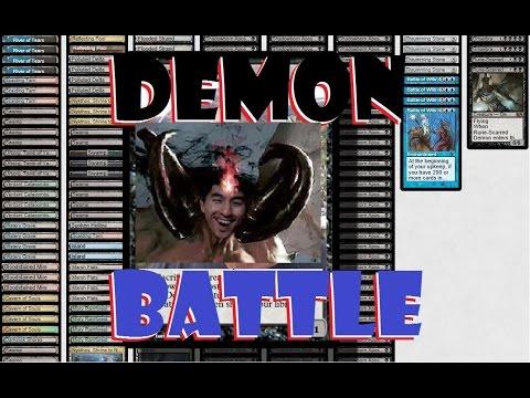 BATTLE OF DEMONS GAME PLAY! MTG Modern Rogue Combo Deck