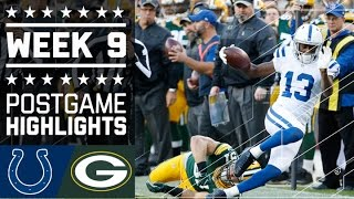 Colts vs. Packers | NFL Week 9 Game Highlights
