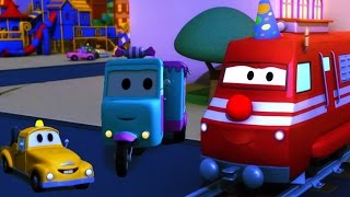 Troy The Train and the Candy Car in Car City | HALLOWEEN Special