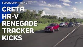 Supercomparativo: Creta, Tracker Turbo, Hr-V, Kicks E Renegade | Motor1.Com