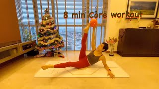 Short and Sweet Series | 8 min Pilates Barre core workout with Grace