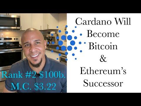 Rank #2 Cardano Will Become Bitcoin & Ethereum's Successor, $3.22 ADA