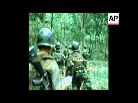 SYND 27/11/1971 SOUTH VIETNAMESE ARVN  FORCES OPERATE IN RUBBER PLANTATION