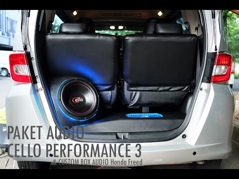 Paket audio cello performance 3  custom Box Audio Mobil