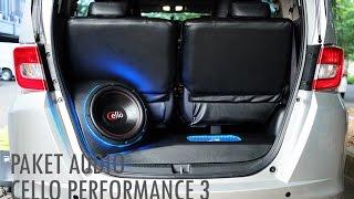 Paket audio cello performance 3 & custom Box Audio Mobil Honda Freed