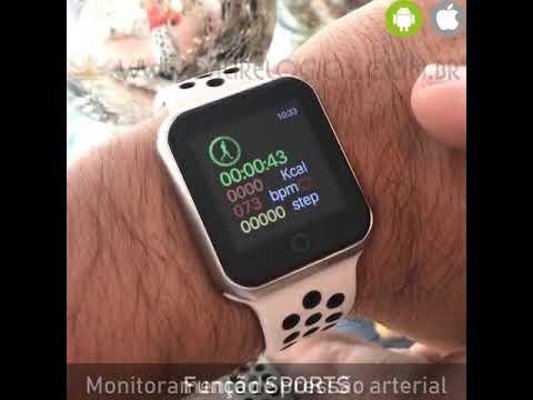 4fb6863c6d9 Relógio Eletrônico OLED Pró Série 2 42mm Smartwatch - YouTube