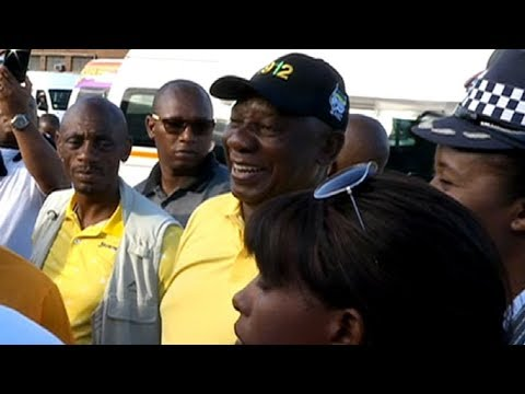 ANC Pres Cyril Ramaphosa On A Mobilisation Drive At Berea Taxi Rank In Dbn