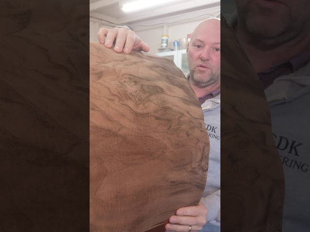 wood restoration on a bass drum @gdkveneering