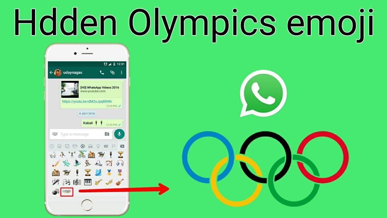 IPhone - WhatsApp Hidden Olympics Emoji - YouTube