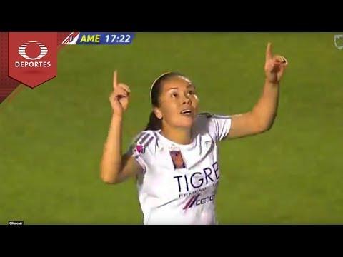 Gol de Blanca Solis | Tigres 1 - 0 América | Liga MX Femenil - Semifinal Ida | Televisa Deportes