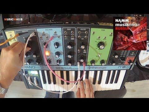 Moog Grandmother: полумодульный синтезатор - демо звучания (NAMM Musikmesse Russia 2018)