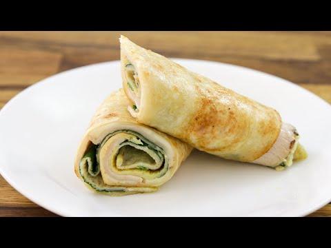 Tortilla Omelet Hack Breakfast Burrito Recipe
