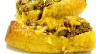 Canoas De Platano Maduro Or Stuffed Ripe Yellow Plantains