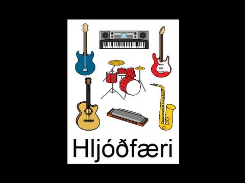 Icelandic Lesson #31: Instruments - Singular and Plural, Pronunciation