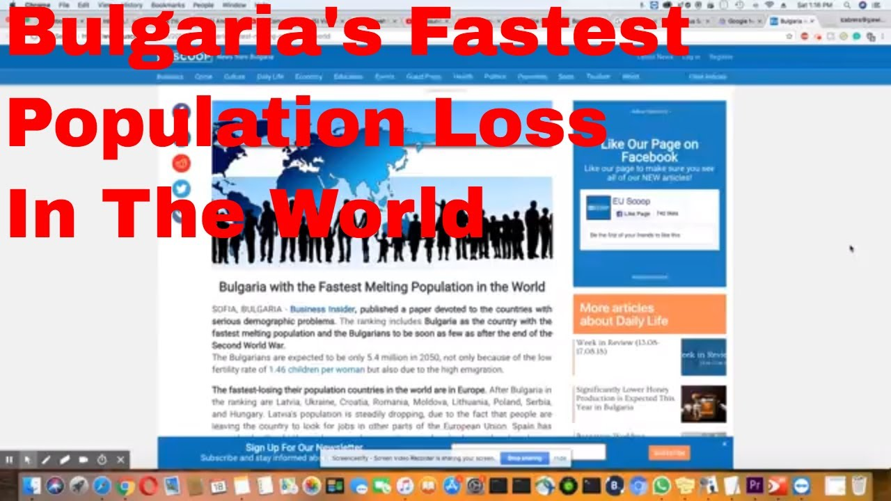 bulgaria suffers from the biggest population loss in the world youtube