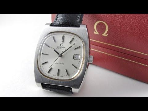 Steel Omega Genève Ref. 166.0190 vintage wristwatch, circa 1974