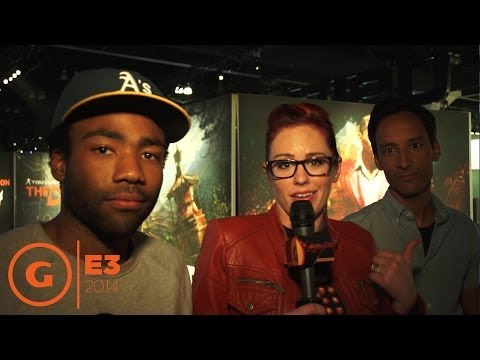Donald Glover and Danny Pudi!  Floor Report E3 2014
