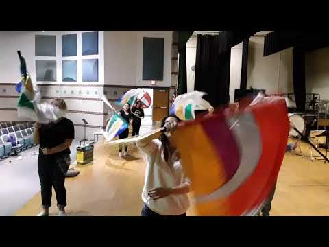 Twin Valley Middle School color gard practice.