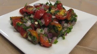 Fresh And Spicy Grape Tomato Salad -- Lynn's Recipes
