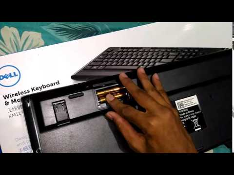 4582d00059b Dell km113 wireless keyboard and mouse unboxing - YouTube