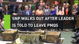 SNP walks out after Blackford is told to leave PMQs