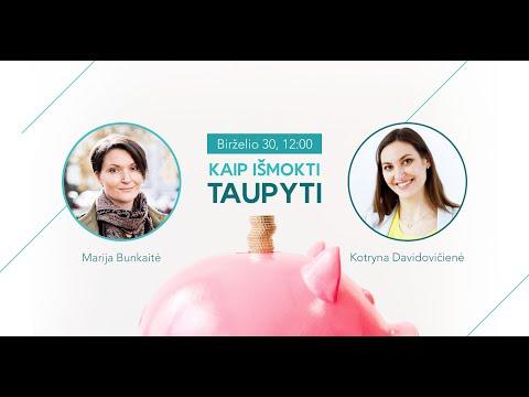 Kaip išmokti taupyti? (video)