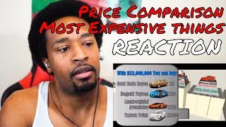 Price Comparison (World Most Expensive Things) REACTION - DaVinci REACTS