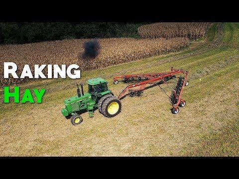 Raking Hay - RhinoAg RDF14 Wheel Rake