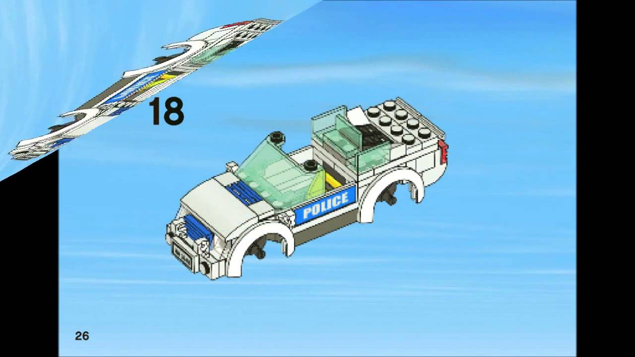 Lego 3648 Police Chase City Police Instruction Booklet Youtube