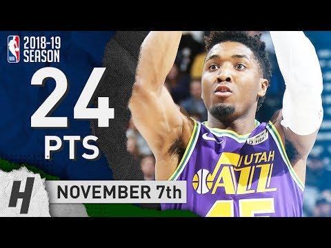 Donovan Mitchell Full Highlights Jazz Vs Mavericks 2018.11.07 - 24 Points, UNREAL DUNKS!
