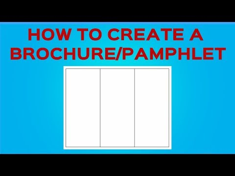 How To Create A Brochure/Pamphlet On Google Docs
