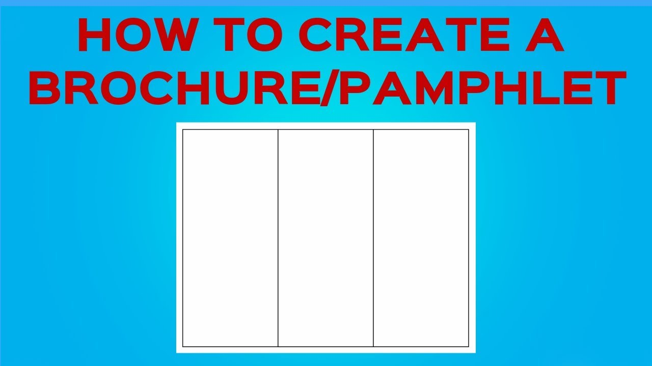 How to create a brochure pamphlet on google docs youtube for How to make a pamphlet in google docs