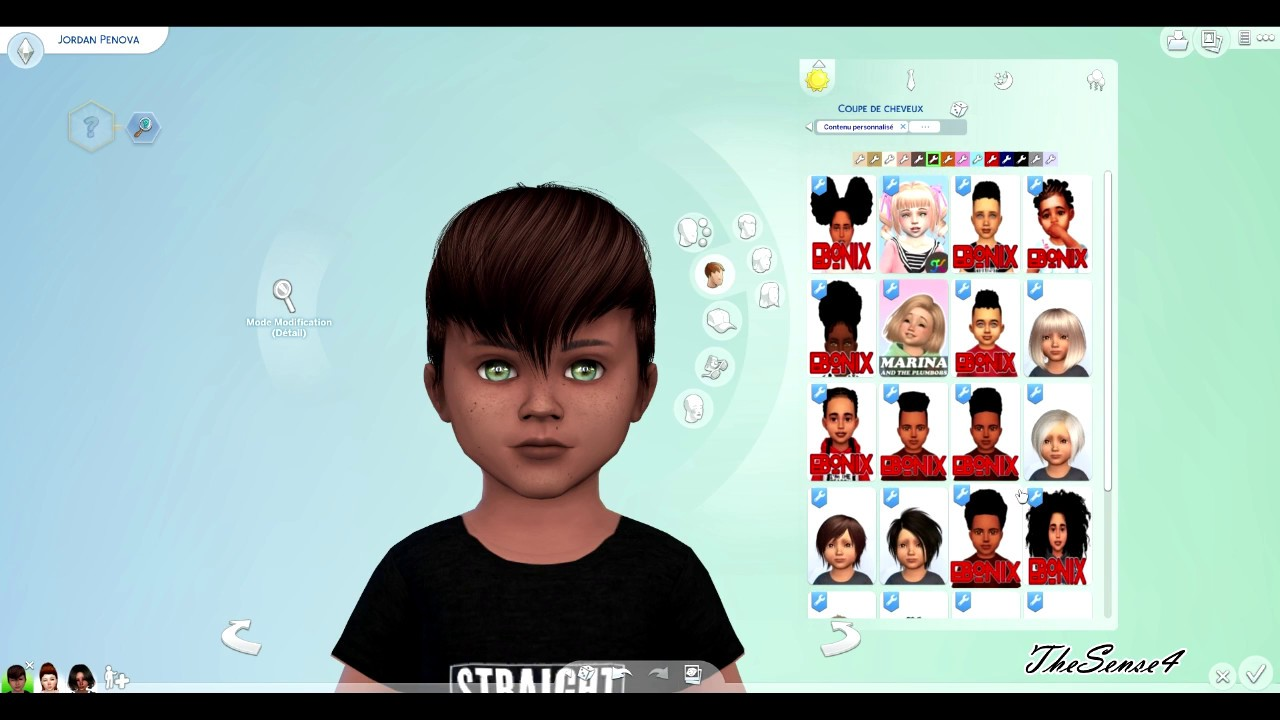cheveux bambin sims 4