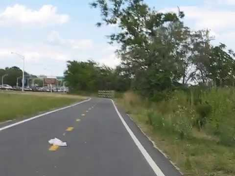 Bicycle ride in canarsie  Brooklyn, New York
