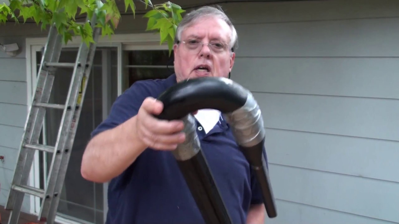 Clean Gutters With Self Made Shop Vac Attachment Youtube