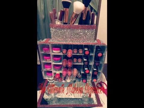 DIY: The Ultimate Bling Makeup Organizer!!! ($1 Dollar Tree Products)