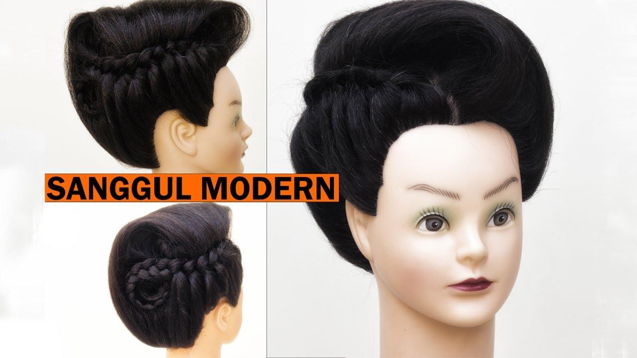 Sanggul Modern 15 Tutorial Sanggul Modern By Timur Flores Youtube