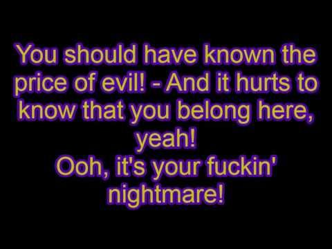 "Avenged Sevenfold - ""Nightmare"" lyrics"