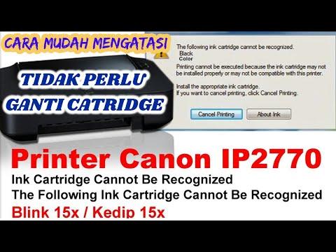 Gejala printer Canon iP2770 blinking Orange 16x adalah ketika kita hendak mencetak lampu indicator o.