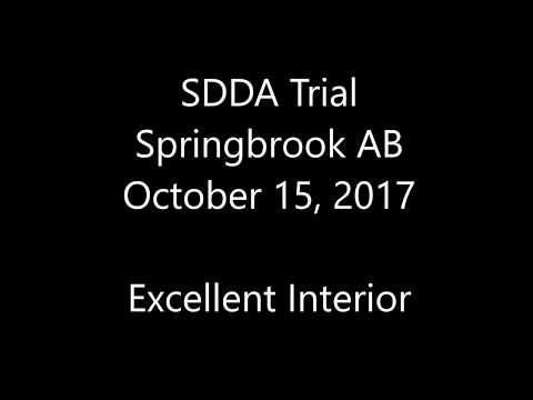 SDDA Trial - Springbrook AB - October 15, 2017 - Excellent Interior