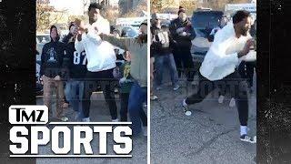 Philadelphia 76ers' Joel Embiid Shoves Eagles Fan During Tailgate | TMZ Sports