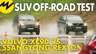 SUV off-road test |Volvo XC90 vs. Ssangyong Rexton |Motorvision