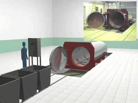 Animacion Autoclave para residuos Hospitalarios por vapor