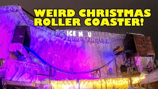 Weird WTF Christmas Spinning Roller Coaster POV Ice Mountain Hyde Park Winter Wonderland London UK