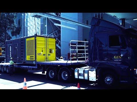 Fully loaded diesel generators for a Hospital in Australia, Atlas Copco